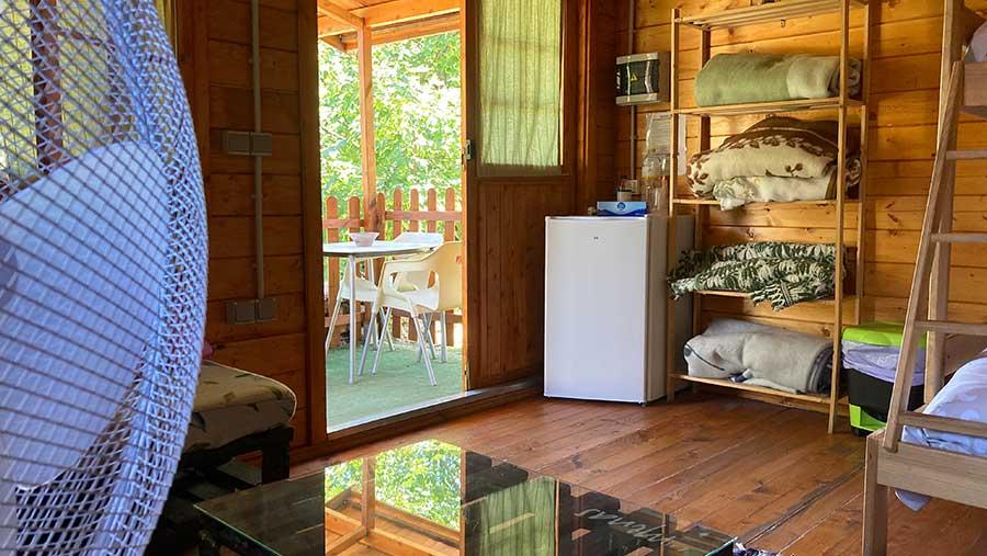 Cabaña para 4 o 5 personas - interior