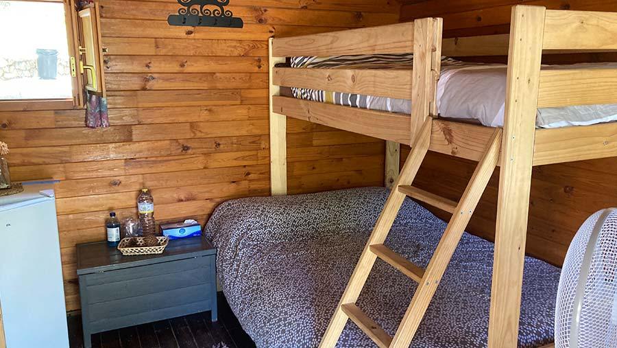 Cabaña para 2 o 3 personas - interior